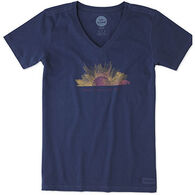 Life is Good Women's Here Comes The Sun Crusher Vee Short-Sleeve T-Shirt