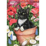 Carson Home Accents Flagtrends Flower Pot Kitten Garden Flag