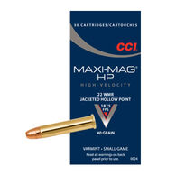 CCI Maxi-Mag 22 Winchester Magnum 40 Grain JHP Rimfire Ammo (50)