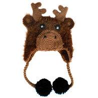 Huggalugs Infant/Toddler Moose Earflap Beanie Hat