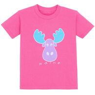 Lakeshirts Toddler Girls' Blue 84 Purpose Moose Short-Sleeve T-Shirt