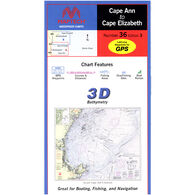 Maptech Folding Waterproof Chart - Cape Ann to Cape Elizabeth