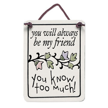 """Spooner Creek Designs """"You Know Too Much"""" Mini Charmer Tile"""