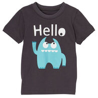 Doodle Pants Toddler Boys' Blue Monster Short-Sleeve T-Shirt
