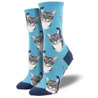 Socksmith Design Women's Boop Cat Crew Sock