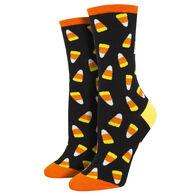 Socksmith Design Women's Candycorn Crew Sock