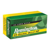 Remington Golden Bullet 22 LR 36 Grain HP Rimfire Ammo (500)