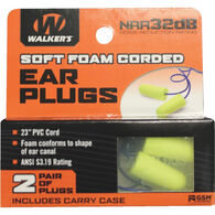 Walker's Soft Foam Corded Ear Plug - 2 Pair Pack