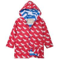 Hatley Boy's T-Rex Silhouettes Color Changing Rain Jacket
