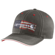 Carhartt Men's Distressed Flag Graphic Cap