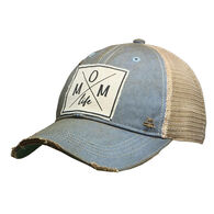 Vintage Life Women's Mom Life Distressed Trucker Hat