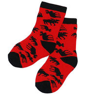 Lazy One Infant Boys' & Girls' Classic Moose Socks