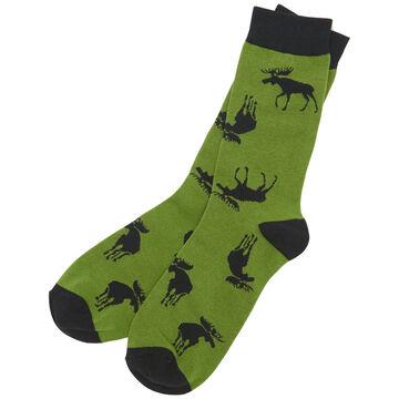 Hatley Little Blue House Mens Forest Moose Crew Sock