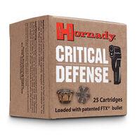 Hornady Critical Defense 38 Special +P 110 Grain FTX HP Handgun Ammo (25)