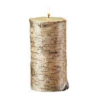 "DecoGLOW Birch Bark Pillar Candle - 3"" x 6"""