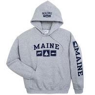 Artforms Men's Triple Maine Moose Pine Striper Hooded Sweatshirt