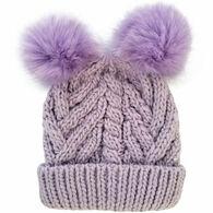 Huggalugs Infant/Toddler Girl's Fluffer Beanie Hat