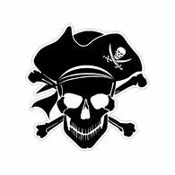 Sticker Cabana Pirate Skull Mini Sticker