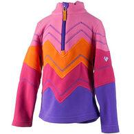 Obermeyer Girls' Zig Fleece Quarter Zip Pullover