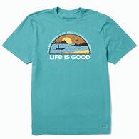 Life is Good Men's More Time Spent Fishing Crusher Tee Short-Sleeve T-Shirt