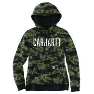 Carhartt Women's Relaxed Fit Midweight Camo Graphic Sweatshirt