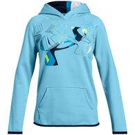 Under Armour Girls' Armour Fleece Print Logo Sweatshirt
