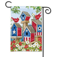 BreezeArt All American Birdhouses Garden Flag