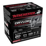 "Winchester DryLock Super Steel Magnum 20 GA 2-3/4"" 3/4 oz. #4 Shotshell Ammo (25)"