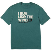 Life is Good Men's Run Like The Winded Cool Tee Short-Sleeve T-Shirt