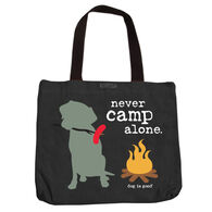 Dog is Good Never Camp Alone Lined Tote