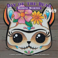 Day Of The Dead: Meowing Muertos 2019 Wall Calendar by Editors Of Rock Point