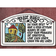 "Spooner Creek ""House Rules"" Large Arch Tile"