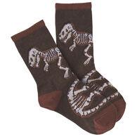 K. Bell Youth Dino Bones Crew Sock