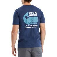 Life is Good Men's Good Whale Crusher Short-Sleeve T-Shirt