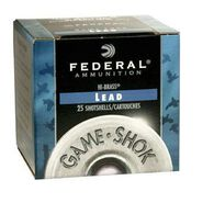 "Federal Game-Shok Upland Hi-Brass Lead 20 GA 2-3/4"" 1 oz. #4 Shotshell Ammo (25)"