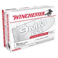 Winchester 9mm Luger 115 Grain FMJ Handgun Ammo (200)