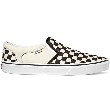 Vans Mens Asher Checkers Canvas Slip-On Sneaker