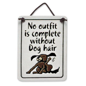 """Spooner Creek """"Without Dog Hair"""" Mini Charmers Tile"""