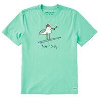 Life is Good Men's Keep It Salty Seagull Crusher-Lite Short-Sleeve T-Shirt