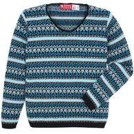Binghamton Knitting Women's Jacquard Pullover Sweater