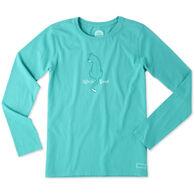 Life is Good Women's Cat Back Crusher Long-Sleeve T-Shirt