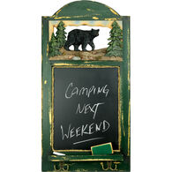 Rivers Edge Bear Hat Rack With Chalkboard