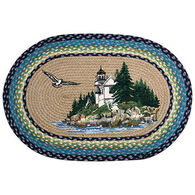 Capitol Earth Bass Harbor Light Oval Rug