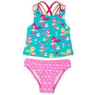 Hatley Girl's Sweet Mermaid Sporty Tankini
