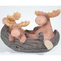 Slifka Sales Co Moose In Canoe Figurine