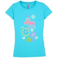 Artforms Girl's Polka Dot Moose Maine Short-Sleeve T-Shirt