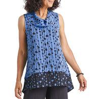 Habitat Women's Bead Stripe Drape Collar Tunic