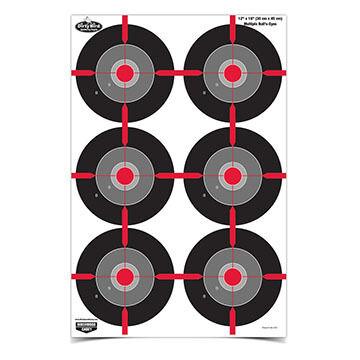 """Birchwood Casey Dirty Bird 12"""" x 18"""" Multiple Bull's-Eye Target - 8 Pk."""