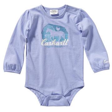 Carhartt Infant Girls Graphic Long-Sleeve Bodysuit