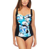 Maxine Women's Retro Tankini Swimsuit Top